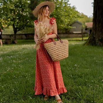 tekstylia Damskie Sukienki długie Céleste AURORE version courte Czerwony