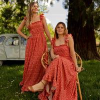 tekstylia Damskie Sukienki długie Céleste AURORE Czerwony