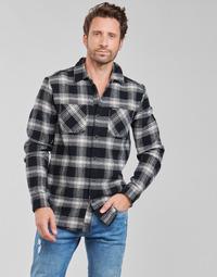 tekstylia Męskie Koszule z długim rękawem Volcom TONE STONE L/S Czarny