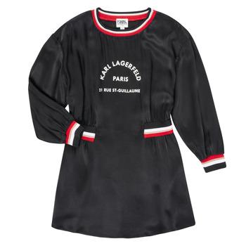 tekstylia Dziewczynka Sukienki krótkie Karl Lagerfeld RUBIS Czarny