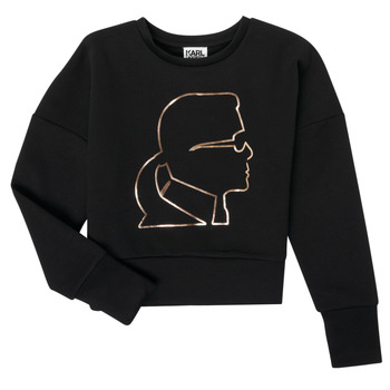 tekstylia Dziewczynka Bluzy Karl Lagerfeld CORNALINE Czarny