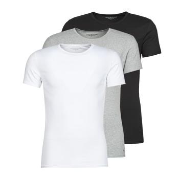 tekstylia Męskie T-shirty z krótkim rękawem Tommy Hilfiger STRETCH TEE X3 Biały / Szary / Czarny