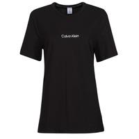 tekstylia Damskie T-shirty z krótkim rękawem Calvin Klein Jeans SS CREW NECK Czarny