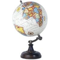 Dom Statuetki i figurki  Signes Grimalt Świat Globe Biały 20 Cm Multicolor