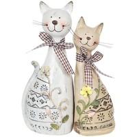 Dom Statuetki i figurki  Signes Grimalt Para Kotów Set 2 Szt. Multicolor