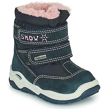 Buty Dziewczynka Śniegowce Citrouille et Compagnie POUDOU Niebieski / Różowy