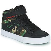 Buty Chłopiec Trampki wysokie DC Shoes PURE HIGH-TOP EV Czarny / Camouflage