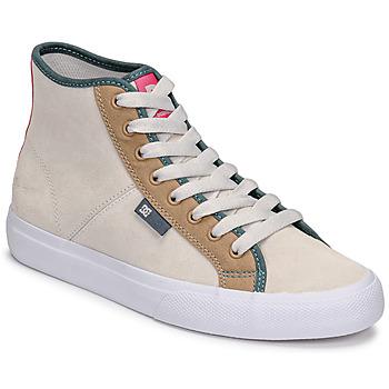 Buty Damskie Trampki wysokie DC Shoes MANUAL HI SE Beżowy