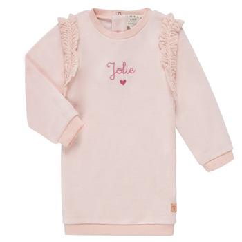 tekstylia Dziewczynka Sukienki krótkie Carrément Beau ABRICOT Różowy