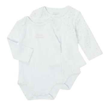 tekstylia Dziewczynka Piżama / koszula nocna Carrément Beau ANTHRACITE Biały
