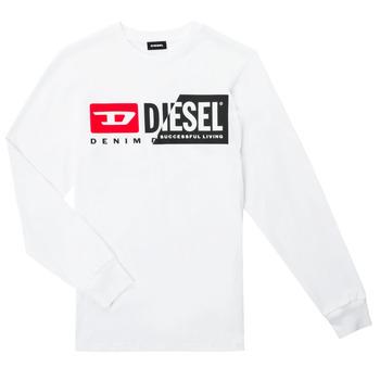 tekstylia Dziecko T-shirty z długim rękawem Diesel TDIEGOCUTY ML Biały
