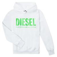 tekstylia Dziecko Bluzy Diesel SDIVISION LOGOX OVER Biały