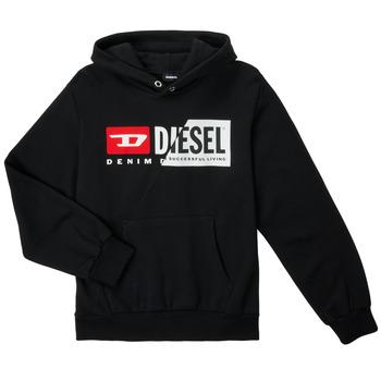 tekstylia Dziecko Bluzy Diesel SGIRKHOODCUTYX OVER Czarny