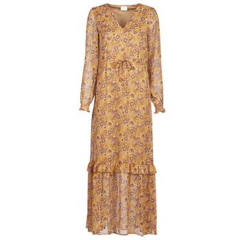 tekstylia Damskie Sukienki długie Vila VIFALIA Cognac