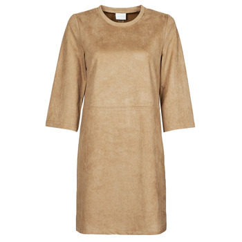 tekstylia Damskie Sukienki krótkie Vila VISUDA Brązowy