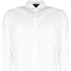 tekstylia Męskie Koszule z długim rękawem Les Hommes  Biały