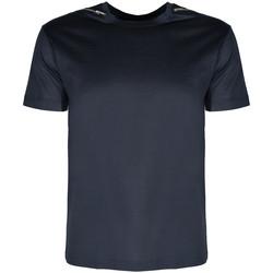 tekstylia Męskie T-shirty z krótkim rękawem Les Hommes  Niebieski
