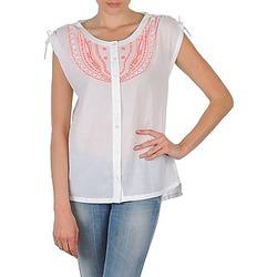 tekstylia Damskie Koszule z krótkim rękawem Antik Batik AYLA Biały