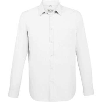 tekstylia Męskie Koszule z długim rękawem Sols BALTIMORE FIT BLANCO Blanco