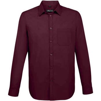 tekstylia Męskie Koszule z długim rękawem Sols BALTIMORE FIT FUCSIA Violeta