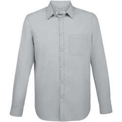 tekstylia Męskie Koszule z długim rękawem Sols BALTIMORE FIT GRIS Gris