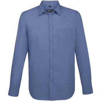 tekstylia Męskie Koszule z długim rękawem Sols BALTIMORE FIT AZUL Azul
