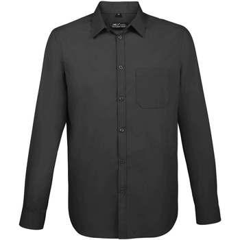 tekstylia Męskie Koszule z długim rękawem Sols BALTIMORE FIT GRIS TITANIO Otros
