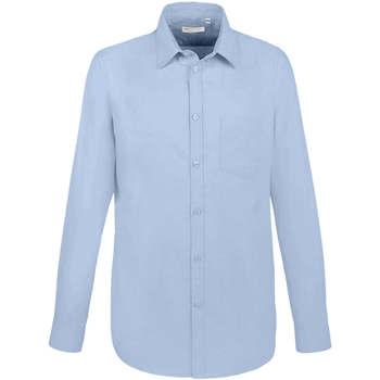 tekstylia Męskie Koszule z długim rękawem Sols BOSTON FIT Azul Azul