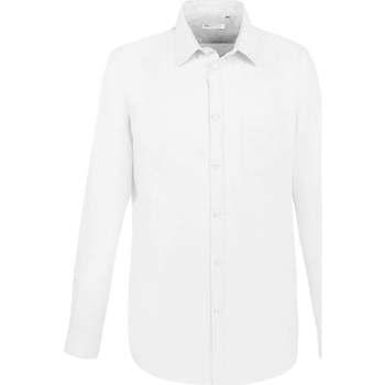 tekstylia Męskie Koszule z długim rękawem Sols BOSTON FIT BLANCO Blanco
