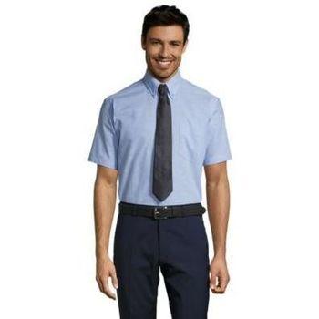 tekstylia Męskie Koszule z długim rękawem Sols BRISBANE FIT Azul Cielo Azul