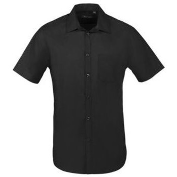 tekstylia Męskie Koszule z krótkim rękawem Sols BRISTOL FIT Negro Negro
