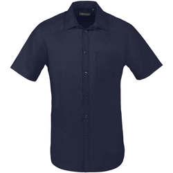 tekstylia Męskie Koszule z krótkim rękawem Sols BRISTOL FIT Azul Oscuro Azul