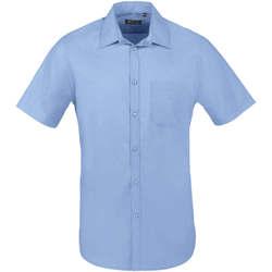 tekstylia Męskie Koszule z krótkim rękawem Sols BRISTOL FIT Azul Medio Azul