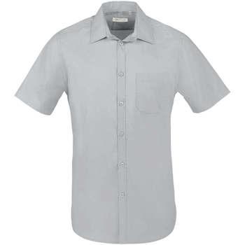 tekstylia Męskie Koszule z krótkim rękawem Sols BRISTOL FIT Gris Perla Gris