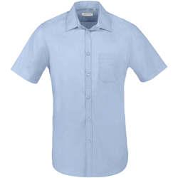 tekstylia Męskie Koszule z krótkim rękawem Sols BRISTOL FIT Azul Cielo Azul