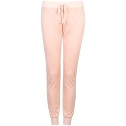 tekstylia Damskie Spodnie dresowe Juicy Couture  Różowy