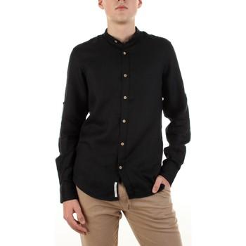tekstylia Męskie Koszule z długim rękawem Yes Zee C506-U400 Czarny