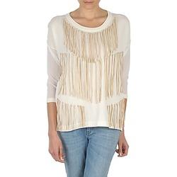 tekstylia Damskie T-shirty z długim rękawem Eleven Paris ANGIE Biały
