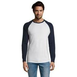 tekstylia Męskie T-shirty z długim rękawem Sols FUNKY LSL Blanco Azul Marino Azul