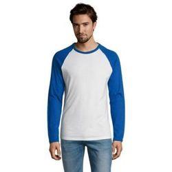 tekstylia Męskie T-shirty z długim rękawem Sols FUNKY LSL Blanco Azul Royal Azul