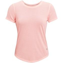 tekstylia Damskie T-shirty z krótkim rękawem Under Armour Streaker Run Short Sleeve Różowy