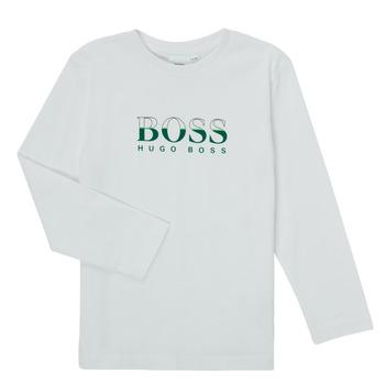 tekstylia Chłopiec T-shirty z długim rękawem BOSS SOPELAS Biały