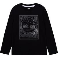tekstylia Chłopiec T-shirty z długim rękawem Timberland AIFRET Czarny