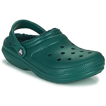 Buty Chodaki Crocs CLASSIC LINED CLOG Zielony