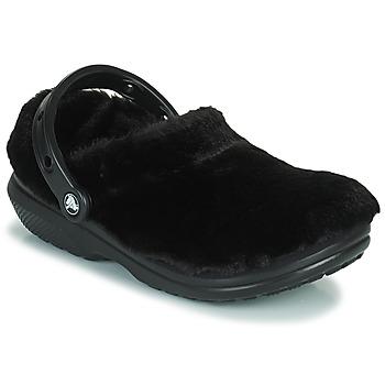 Buty Damskie Chodaki Crocs CLASSIC FUR SURE Czarny