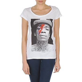 tekstylia Damskie T-shirty z krótkim rękawem Eleven Paris KALIFA W Biały