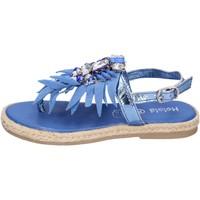 Buty Dziewczynka Sandały Holalà BH18 Niebieski