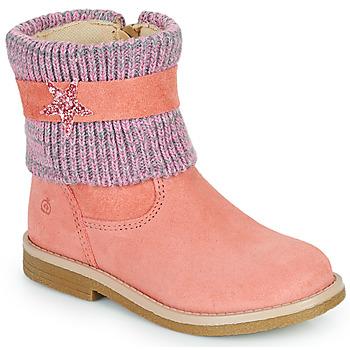 Buty Dziewczynka Buty za kostkę Citrouille et Compagnie PASTEK Różowy