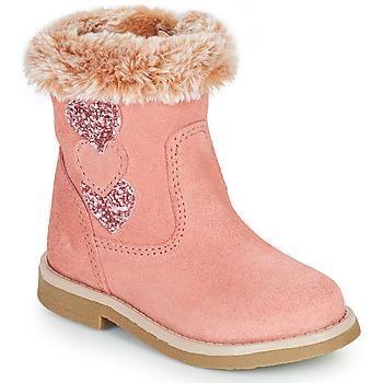 Buty Dziewczynka Kozaki Citrouille et Compagnie PARAVA Różowy