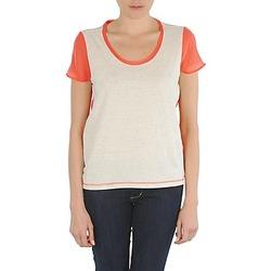 tekstylia Damskie T-shirty z krótkim rękawem Eleven Paris EDMEE Beżowy / Pomarańczowy